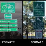 Bike route signs: how do you list destinations?